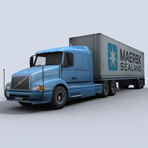 Xe đầu kéo – Container – Model: Hộp đen hợp chuẩn